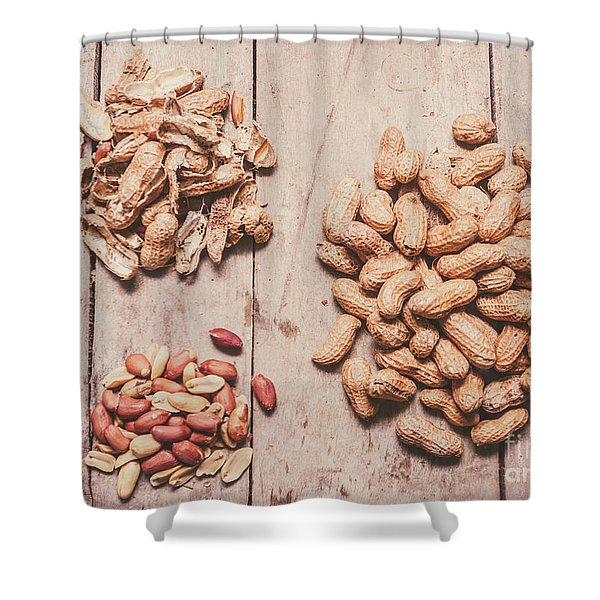 Peanut Shelling Shower Curtain