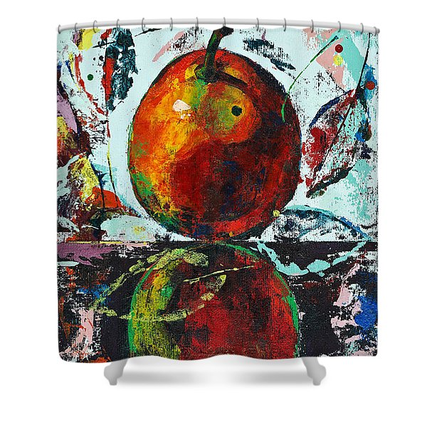 Pear And Reflection Shower Curtain
