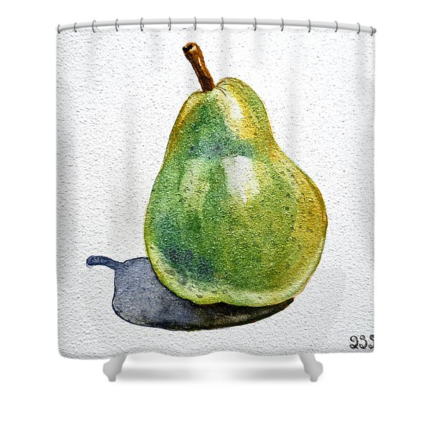 Pear Shower Curtain by Irina Sztukowski