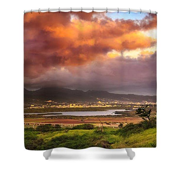 Pearl Harbor Sunset Shower Curtain