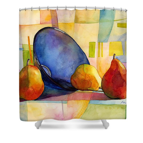 Pears And Blue Bowl Shower Curtain
