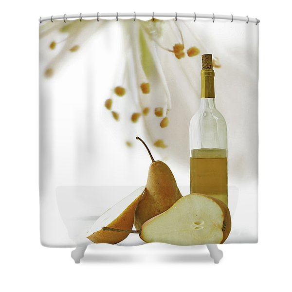 Pears Blossom Shower Curtain