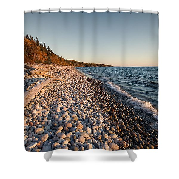 Pebble Beach Autumn    Shower Curtain