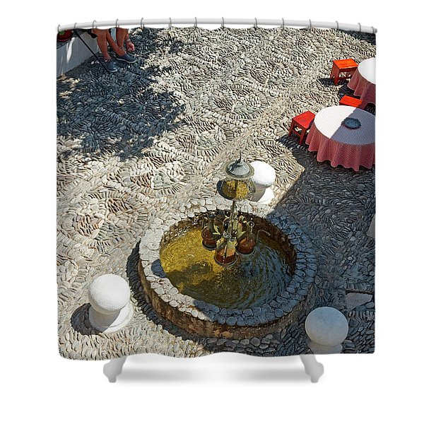 Pebble Courtyard Shower Curtain