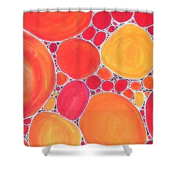 Pebbles At Sunset  Shower Curtain