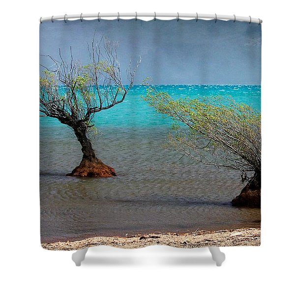 Peculiar Trees Shower Curtain