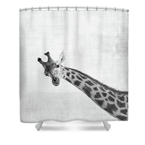 Peekaboo Giraffe Shower Curtain