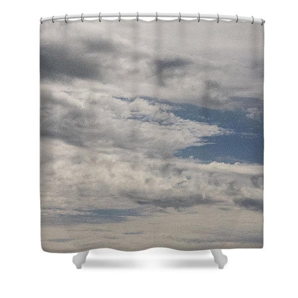 Peeking Sky Shower Curtain