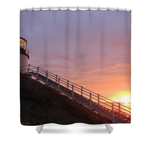 Peeking Sunrise Shower Curtain