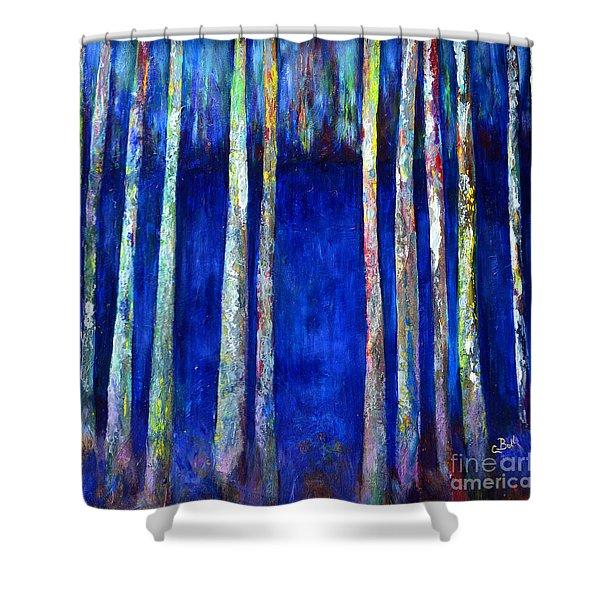 Peeking Through The Trees Shower Curtain