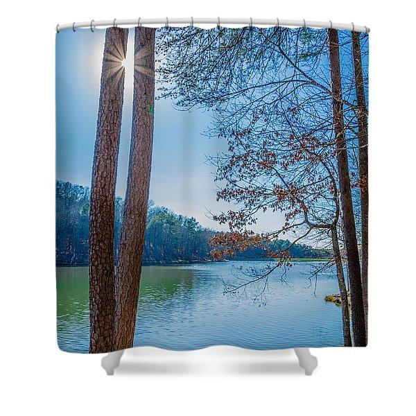 Peeping Sun Shower Curtain