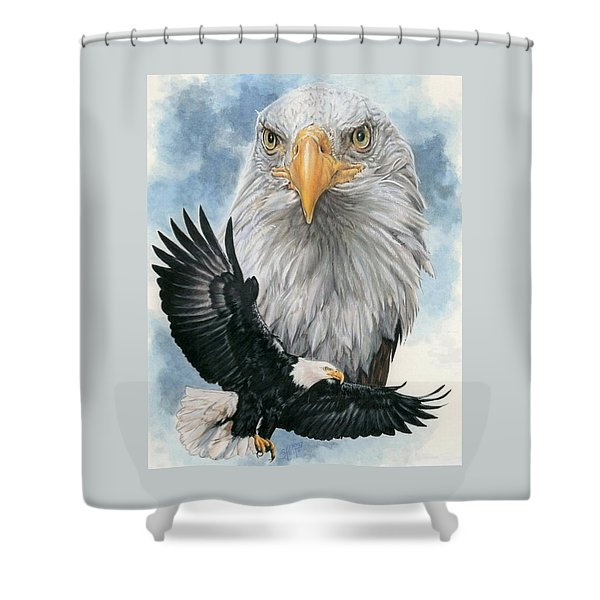 Shower Curtain featuring the mixed media Peerless by Barbara Keith