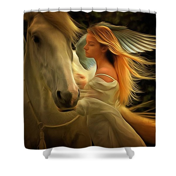 Pegasus Or Angel Shower Curtain