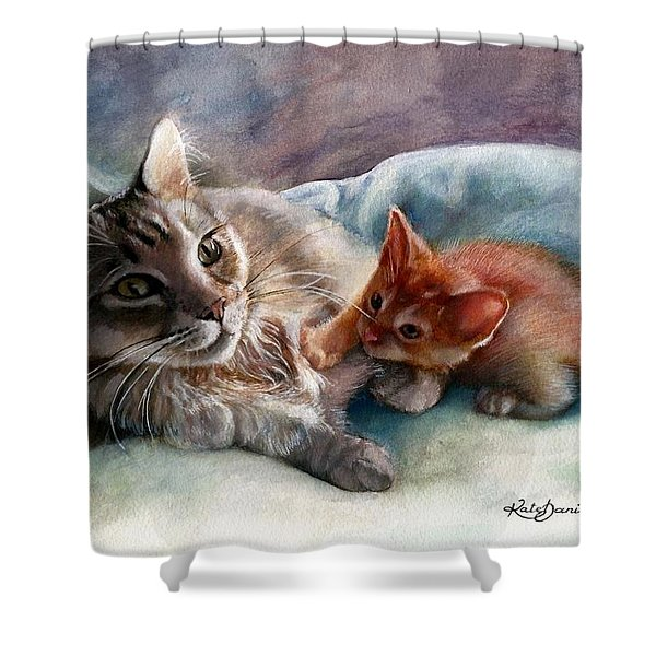 Peggy Sue And Sammy Shower Curtain