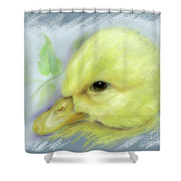 Pekin Duckling Portrait Shower Curtain