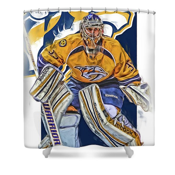 Pekka Rinne Nashville Predators Shower Curtain