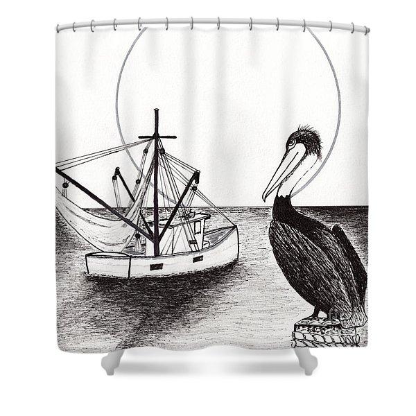 Pelican Fishing Paradise C1 Shower Curtain