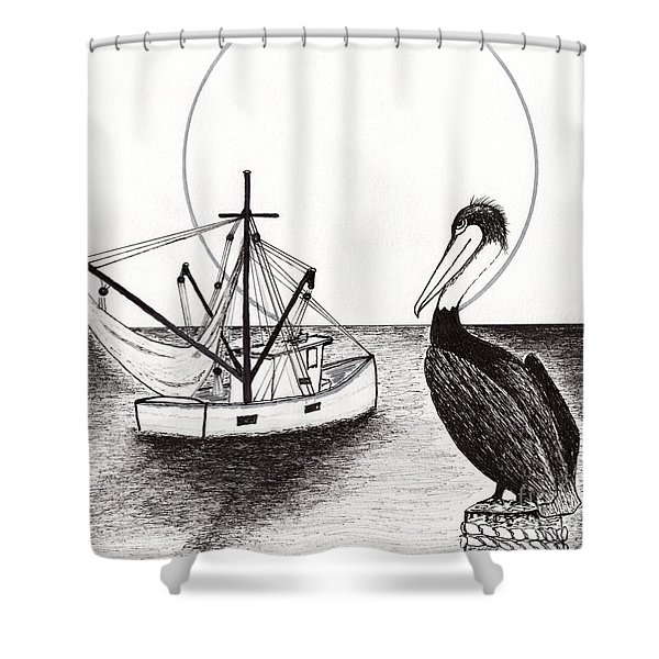 Pelican Fishing Paradise C1 Shower Curtain