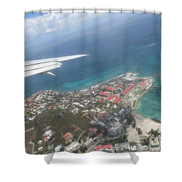 Pelican Key St Maarten Shower Curtain