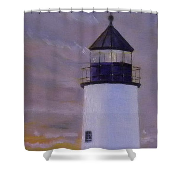 Pemaquid Light Morning Light Shower Curtain