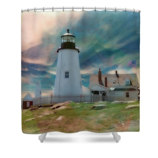 Pemaquid Lighthouse,maine Shower Curtain