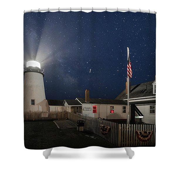 Pemaquid Point Light Flare Shower Curtain