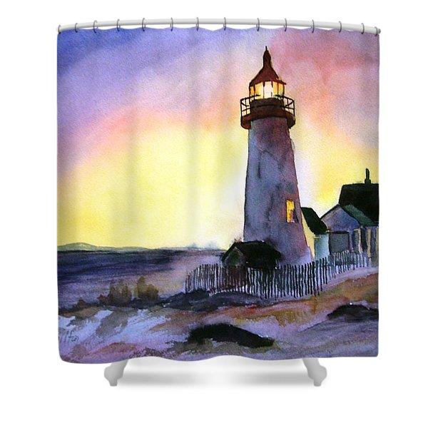 Pemaquid Point Lighthouse Maine Shower Curtain