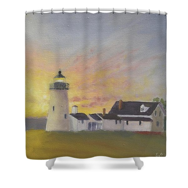 Pemaquid's First Light Shower Curtain