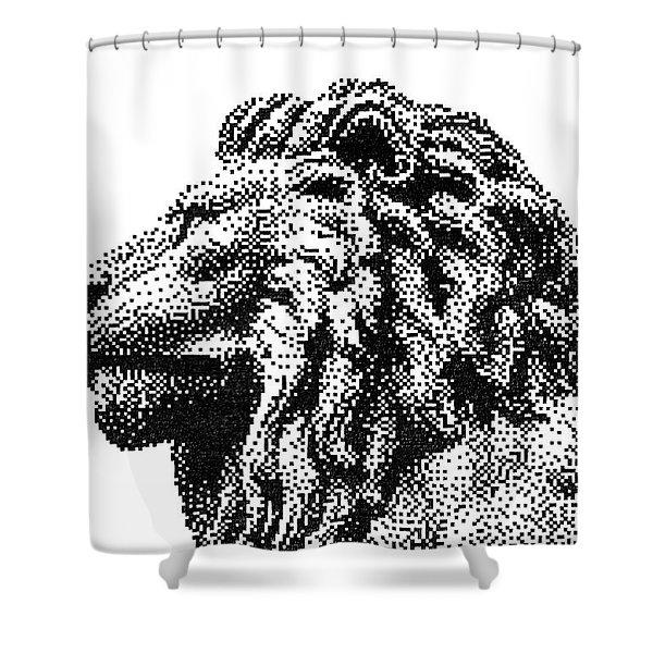 Pen Pixel Royal Lion Shower Curtain