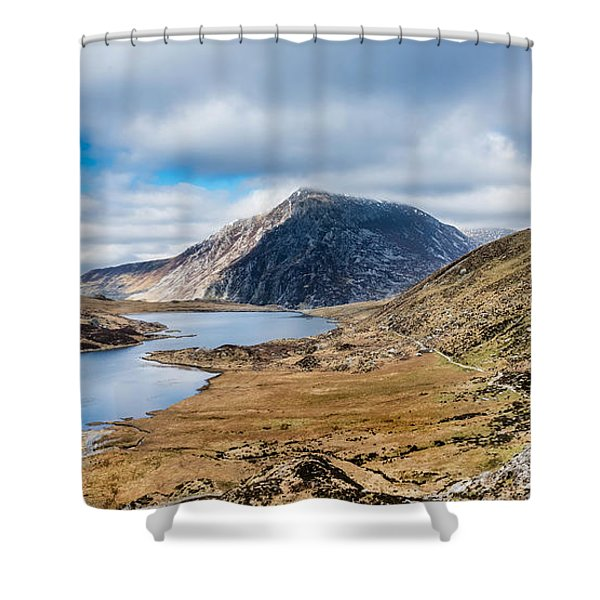 Shower Curtain featuring the photograph Pen Yr Ole Wen by Nick Bywater