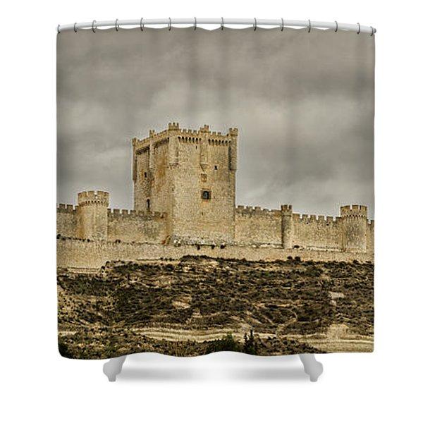 Penafiel Castle, Spain. Shower Curtain