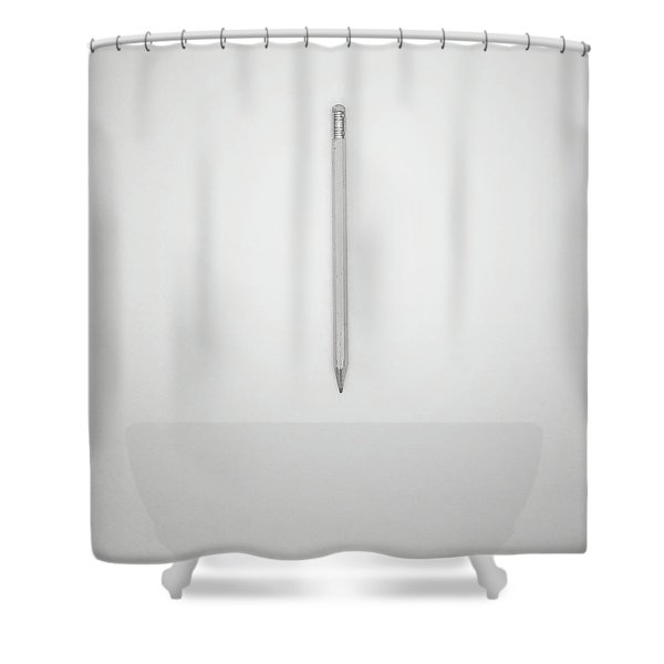 Pencil On A Blank Page Shower Curtain