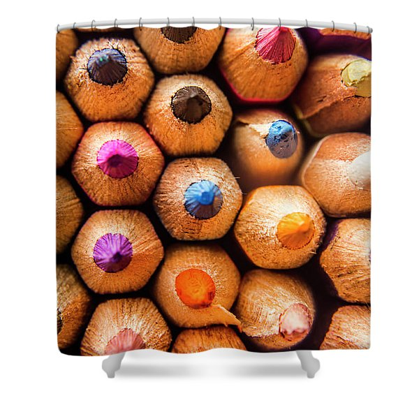 Pencil Pointers Shower Curtain