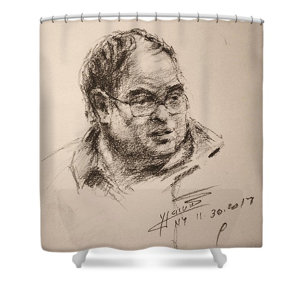 Sketch Man 8 Shower Curtain
