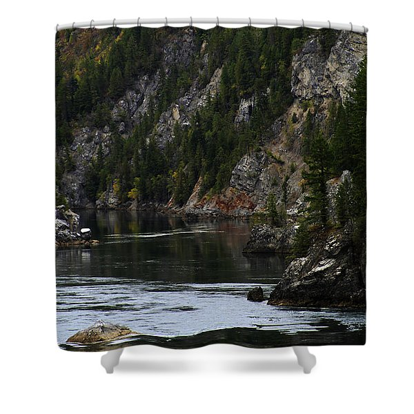 Pend Oreille In Oil II Shower Curtain