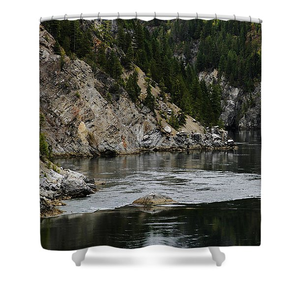 Pend Oreille In Oil Shower Curtain