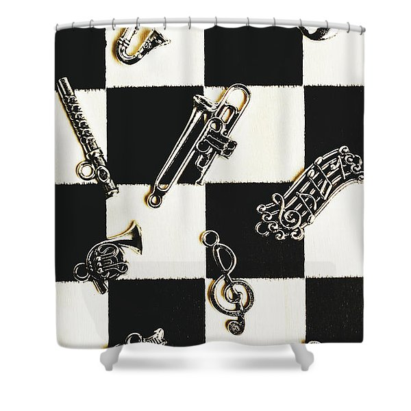 Pendant Musical Concerto Shower Curtain
