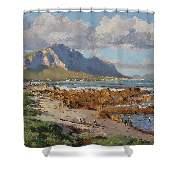 Penguins At Betty's Bay Shower Curtain