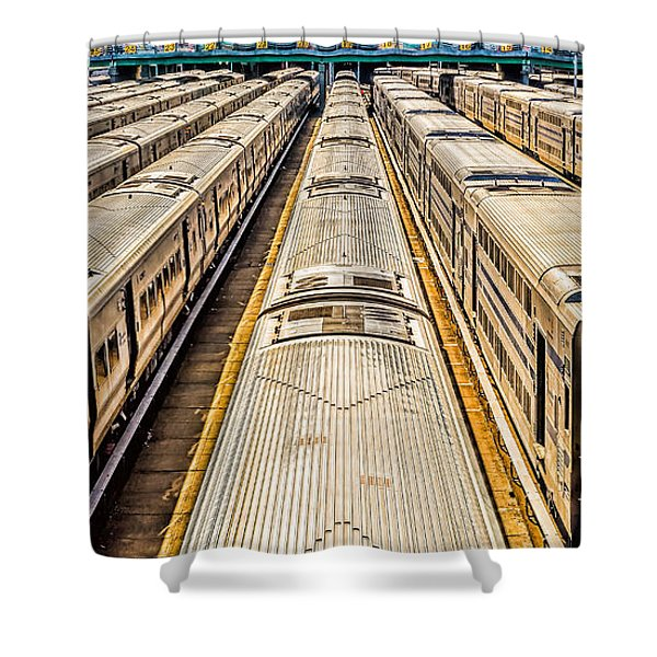 Penn Station Train Yard Shower Curtain