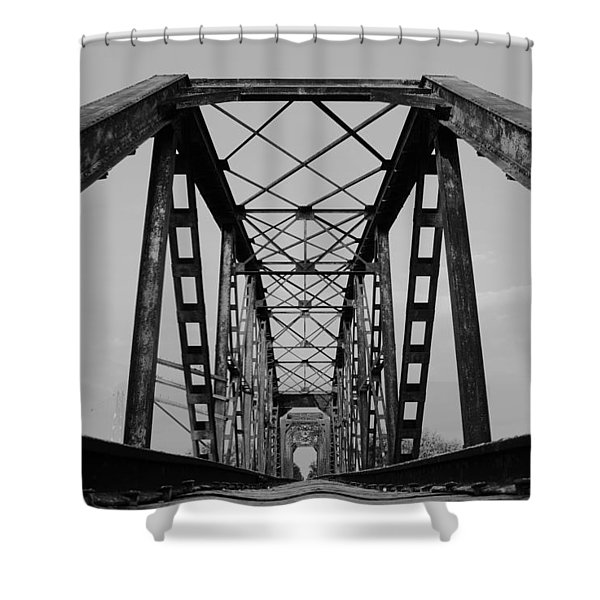 Pennsylvania Steel Co. Railroad Bridge Shower Curtain