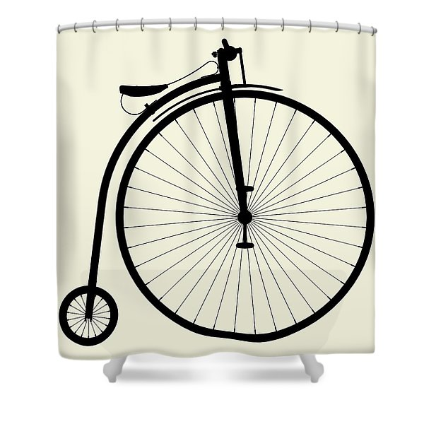 Penny-farthing Bicycle Shower Curtain
