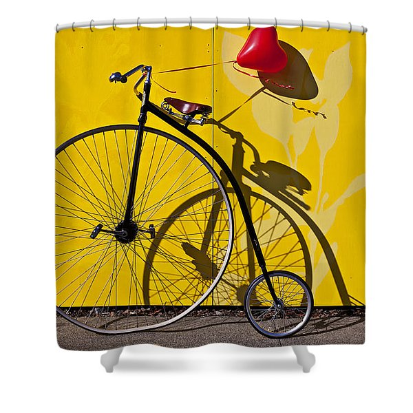 Penny Farthing Love Shower Curtain
