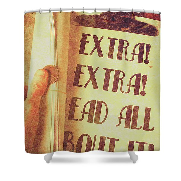 Penny Press Journal Shower Curtain