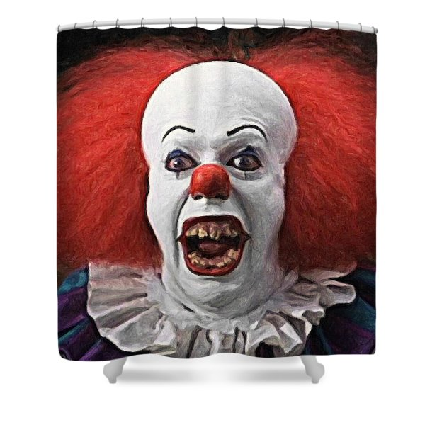 Pennywise The Clown Shower Curtain