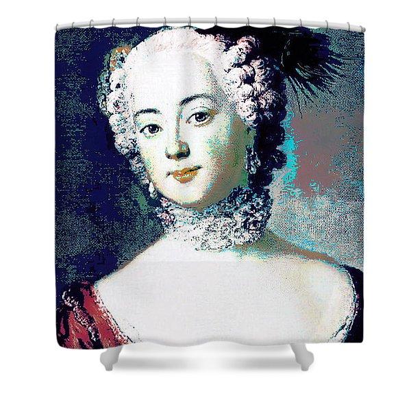 Eleonore Blue Shower Curtain