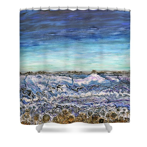Pensive Waters Shower Curtain