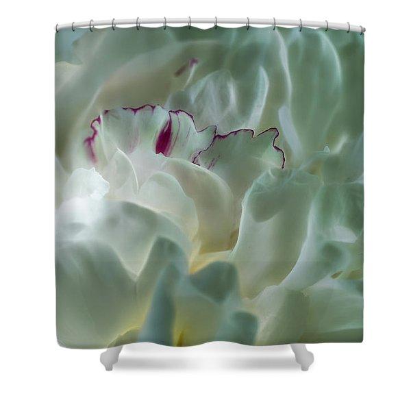 Peony Flower Energy Shower Curtain