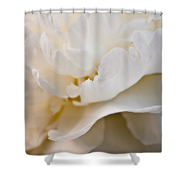 Peony Poetry Shower Curtain