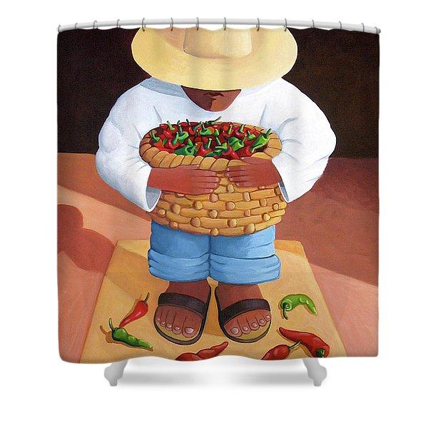 Pepper Boy Shower Curtain