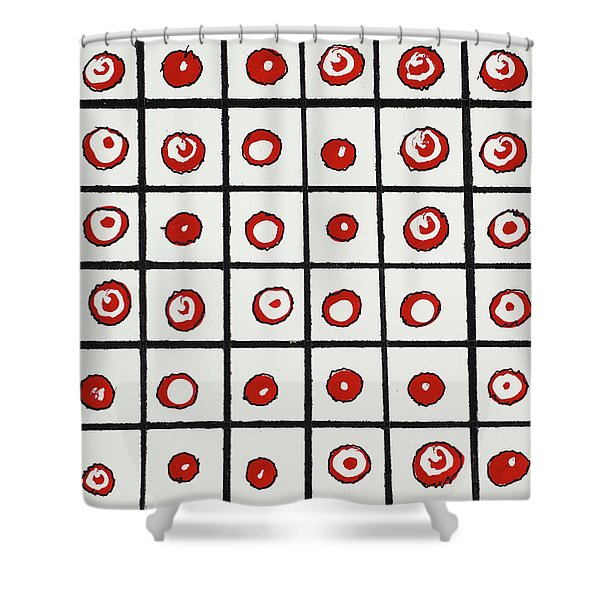 Peppermint And Licorice Shower Curtain